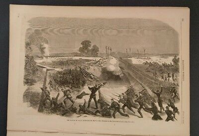Harper's Weekly 6/20/1863 Battle of Jackson, Mississippi  Banks in Louisiana