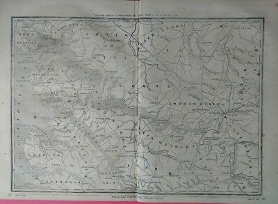 "Civil War Map  Excellent 22"" x 16""  War in Eastern Virginia  Frank Leslie's 1862"