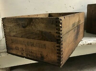 "Vintage DuPont ""Explosives"" wooden box"