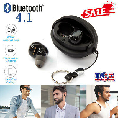 Wireless TWS Mini Bluetooth Twins Stereo Headset In-Ear Earbuds Earphone w Box