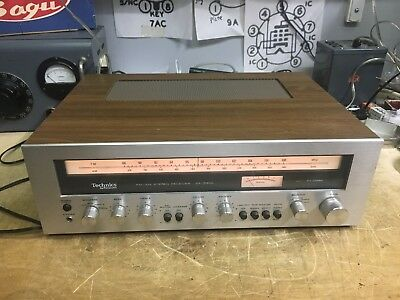 vintage TECHNICS SA-5350 STEREO RECEIVER mid 1970's silver face