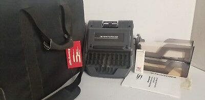 Stenograph Stentura 200 Court Reporting machine with accessories and case
