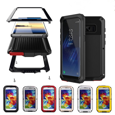 360° Heavy Duty Shockproof Full Body Protective Glass Case Cover For Samsung Lot