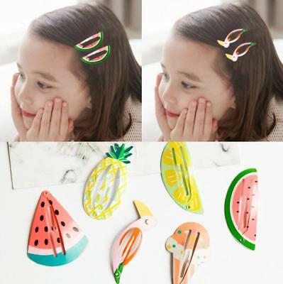 6Pcs Pretty Girls baby Hair Clips Snaps Hairpin Baby Kids Hair Bow Accessories