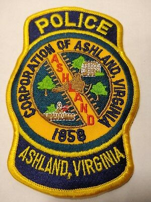 Ashland Virginia Police Officers Official Uniform Patch