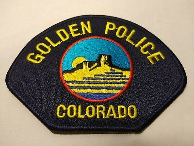 Golden Colorado Police Officers Official Uniform Patch