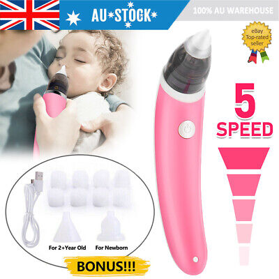 Newborn Baby Nasal Aspirator Electric Nose Cleaner Safe Hygienic Snot Sucker AU