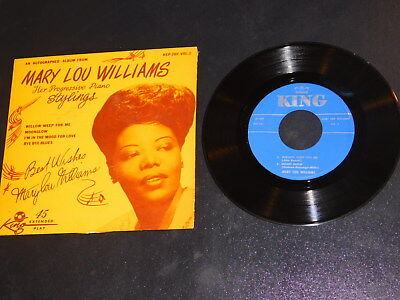 """EX MARY LOU WILLIAMS """"HER PROGRESSIVE PIANO STYLINGS,Vol.2"""" KING KEP-280 EP 45"""