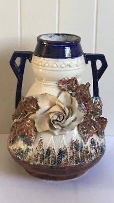 Beautiful Antique Hand Decorated French Vase
