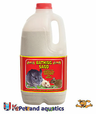 Chinchilla Bathing Sand Dust, Hamsters, Degus 1.5kg