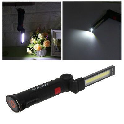 Magnetic Portable 5 Mode COB LED Work Light Flashlight Torch USB Rechargeable