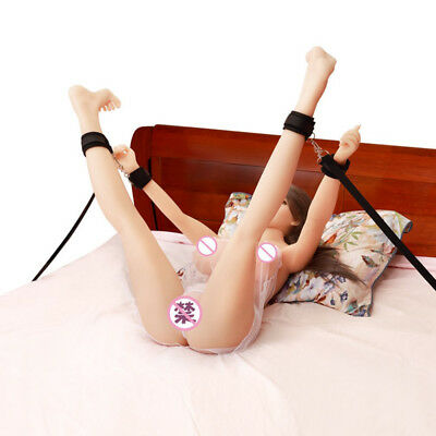 Multi-functional Couples' Toy Sexy Bed Restraint System Handcuffs & Ankle Cuffs