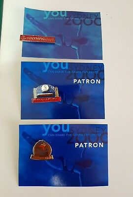 Set of 3 Sydney 2000 Olympic Club New Badge Pin