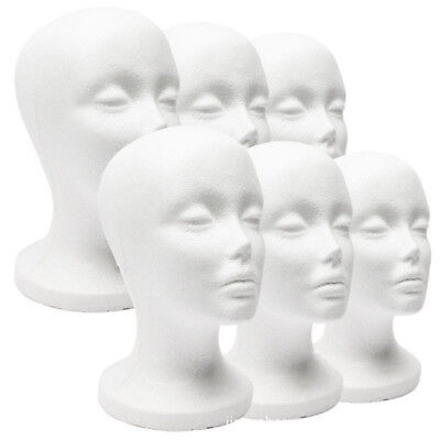 UK Polystyrene Unisex Male Female Display Mannequin Head Dummy Wig Stand New