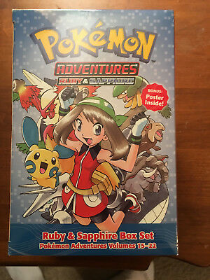 Pokemon Adventures Ruby and Sapphire 15-22 Complete Box Set