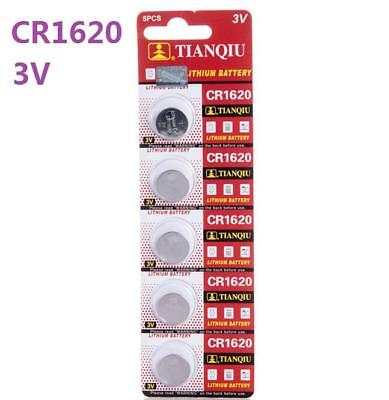 5pc 3V CR1620 DL1620 ECR1620 3 Volt Button Coin Cell Battery for watch CMOS toy