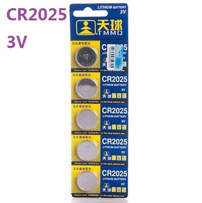 5pcs 3V CR2025 DL2025 ECR2025 3 Volt Button Coin Cell Battery for pc watch toy