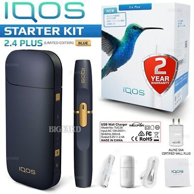 New I-QOS 2.4+ Plus Blue Bluetooth Vibration Electronic Cigarette(Complete Set)