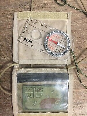 "Genuine  SILVA"" Compass & ID carry Case' With Velcro Patch"