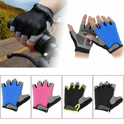 Cycling Riding Gloves MTB Bike Half Finger Bicycle Palm Sport Fingerless Mitts A