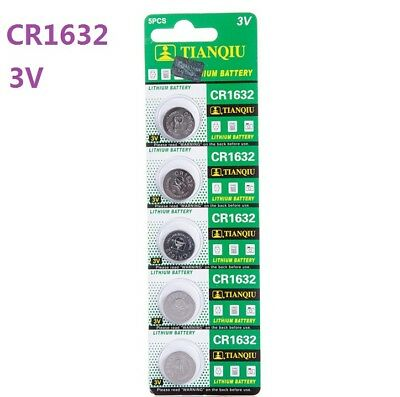 5pc 3V CR1632 DL1632 ECR1632 3 Volt Button Coin Cell Battery for CMOS watch toy