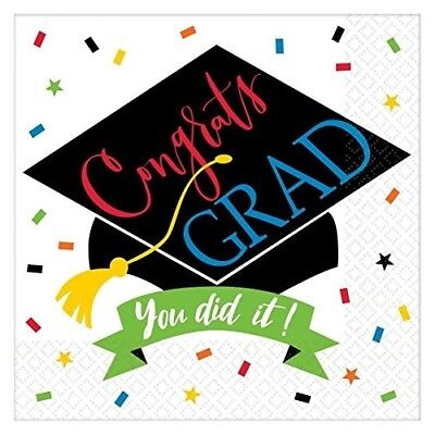 Amscan Congrats Grad You Did It Beverage Napkins (125 ct). Huge Saving