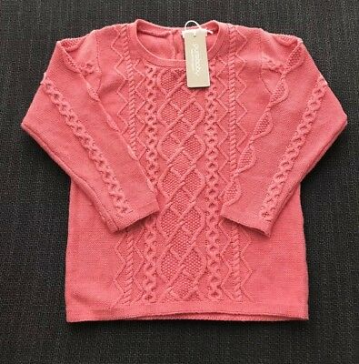 Purebaby Girls Cable Cardigan Size 3 Years RRP$64.95