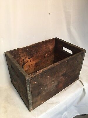 Authentic Vintage Antique Old Wood Crate Distressed From Warehouse Country Decor