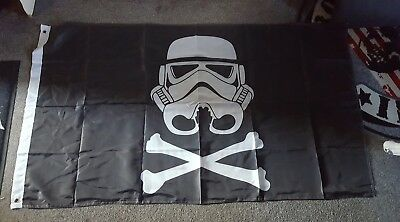 star wars stormtrooper  flagge banner 90×150  polyester Fahne Hissflagge