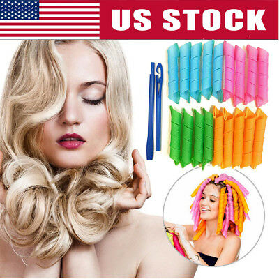 36pcs/Set Magic Long Hair Curlers Curl Formers Leverage Rollers Spiral Ringlets