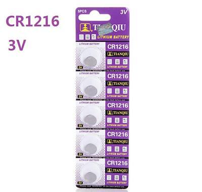 5pcs 3V CR1216 ECR1216 DL1216 3 Volt Button Coin Cell Battery for CMOS watch toy
