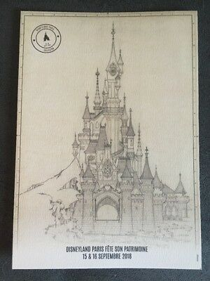 Lithographie Disney Collector  Disney Fete Son Patrimoine 15 , 16 Septembre 2018