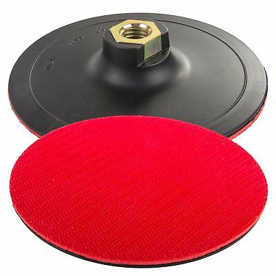 125mm 5 inch Grinding Pad Hook & Loop Pad Angle Grinder + Attachment + 50 discs