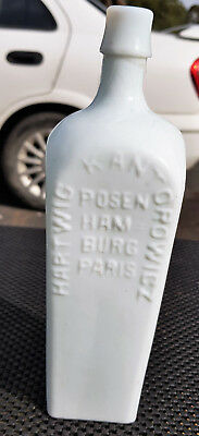 Antique Early Milk Glass 1870 To 1880 Aromatic Bitters Hartwig Old Bottle