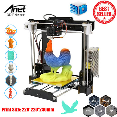 Anet A8 Impresora 3D Desktop Printer DIY KIT Alta precisión Print220*220*240mm