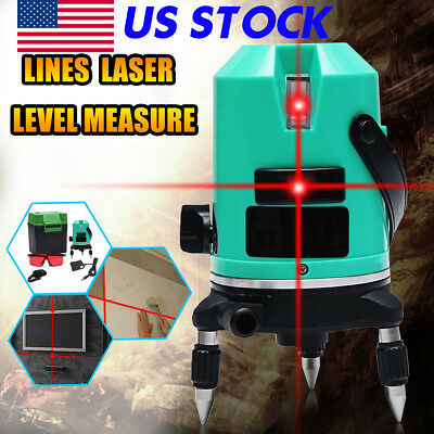 3D Self Leveling Laser Level Auto 360° Rotary Rotating Red Vertical & Horizontal
