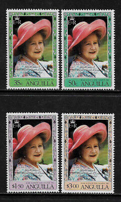 Anguilla #394-7 Mint Never Hinged Set - Queen Mother
