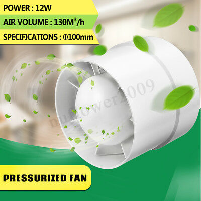 4'' Inline Duct Booster Fan Ventilator Extractor Hydroponic Air Exhaust Blower