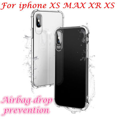 Ultrathin Soft TPU Case Cover fr iphone XR XS MAX XS Anti-dust Clear Protector G