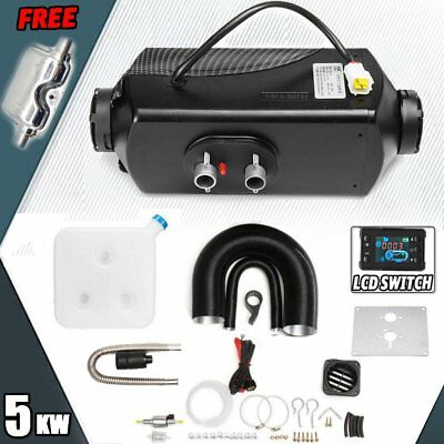 5000W LCD Air Diesel Heater PLANAR 5KW 12V for Car Truck Motor-Home Boat Bus -UK