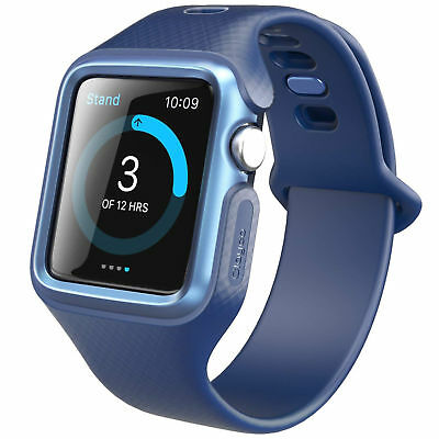 Rugged Apple Watch Case Band Protective Cover iWatch 42mm Series 1 2 3 Blue NEW