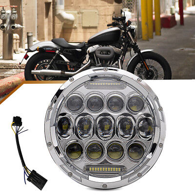 7'' Inch Round 75W LED Headlight Offroad Light Projector for Jeep Wrangler JK CJ