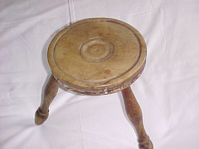 Victorian Pine 3 Legged Milking Stool.