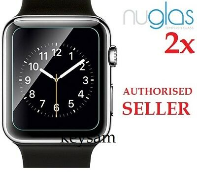 2x Genuine NUGLAS Tempered Glass Screen Protector for Apple watch Series 1/2/3