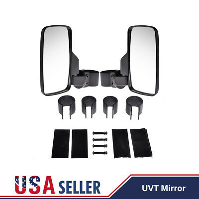 "Side Rear View Mirror Set UTV Offroad Break-Away Large Wide View Race 1.6""-2"""
