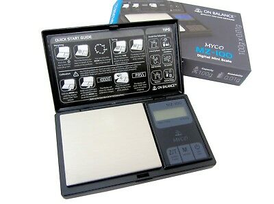 On Balance MYCO MZ 100 Pocket Digital Scale Mini Jewellery Weigh Kitchen Scales