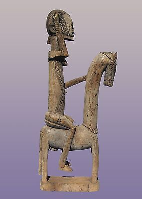 "African Dogon Horse and Rider From Mali 53"" Tall"