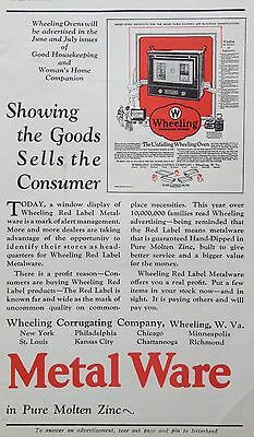 1927 Ad(F20)~Wheeling Metal Ware On Display For Upcoming Advertising Promotion