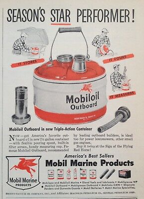 1952 Ad(Odl35)~Mobil Marine Products New Triple-Action Outboard Container