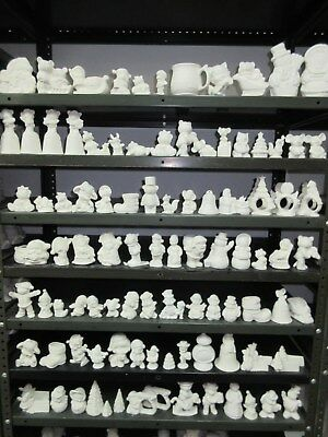 Ready to paint Ceramic bisque Christmas Lot of 100